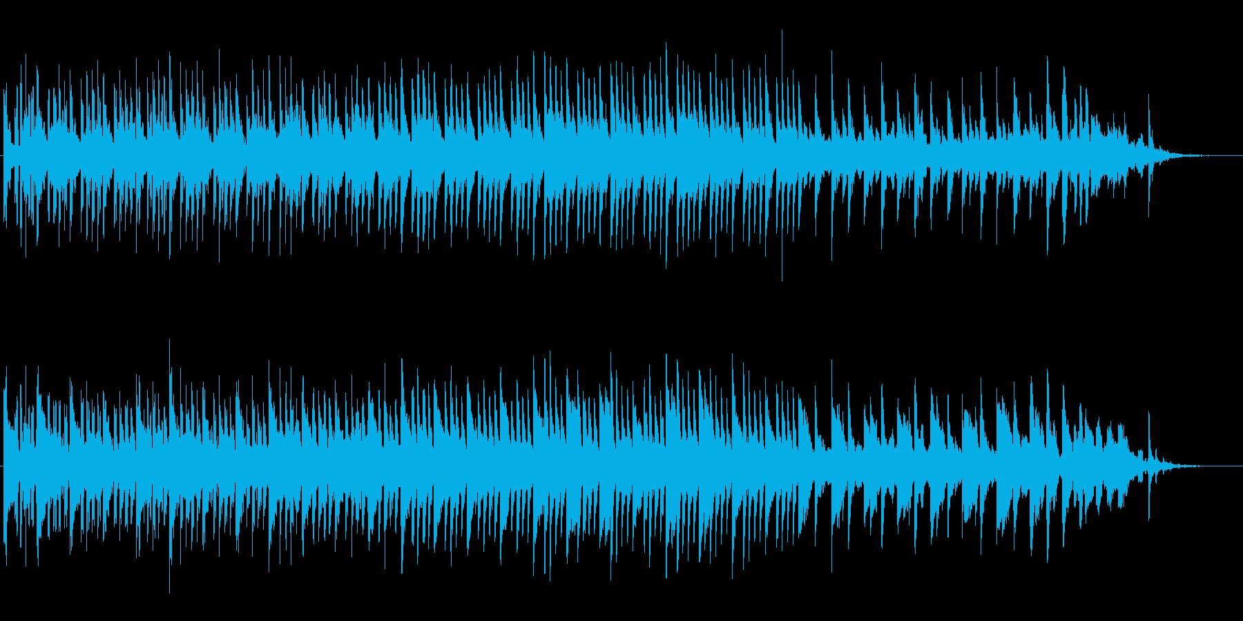 シンセによるコミカルなジングルの再生済みの波形