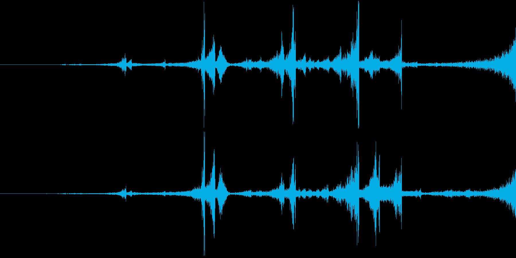 Zap 巻き戻し音・ザップ効果音 4の再生済みの波形