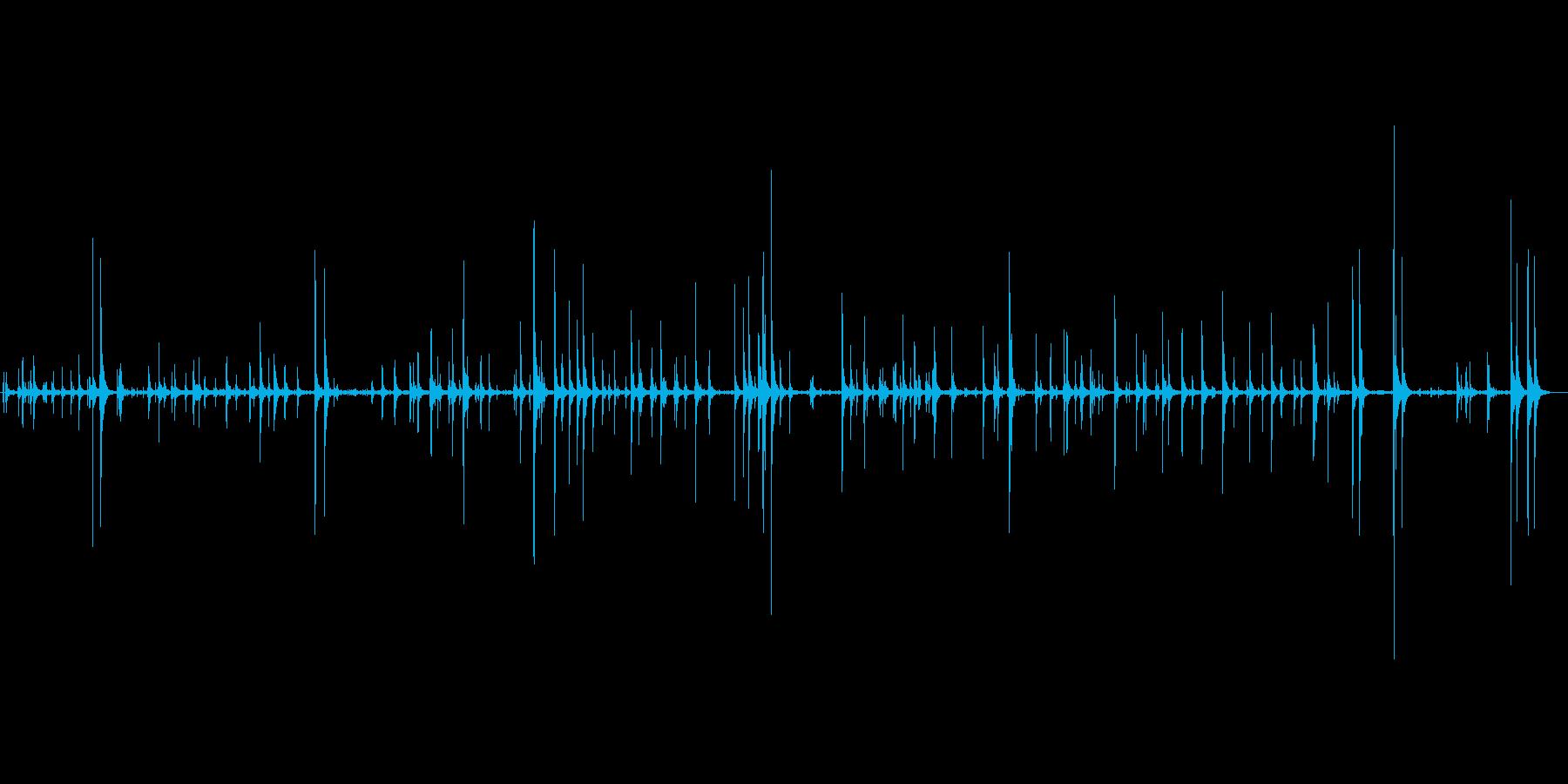 タイピングしている音。の再生済みの波形