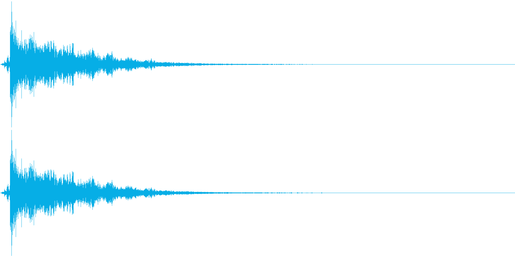 パーン+キラキラ(魔法/特殊攻撃)の再生済みの波形