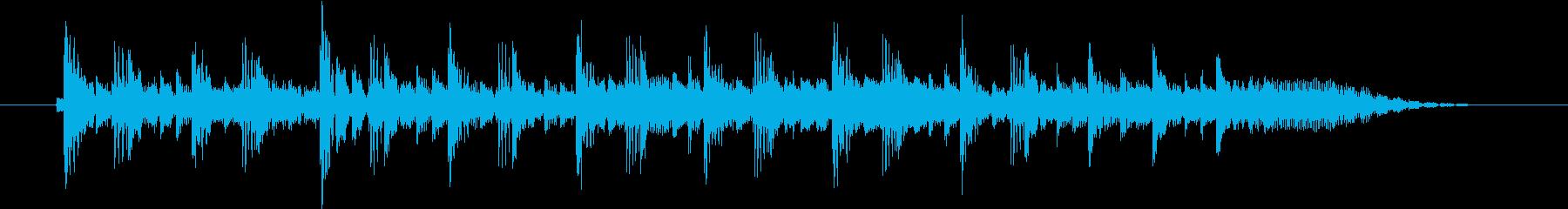 番組が始まるときに使えるジングルの再生済みの波形