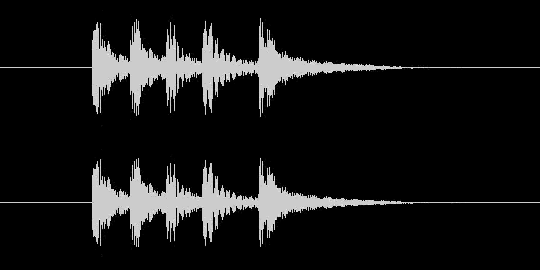 コロンコロンの未再生の波形