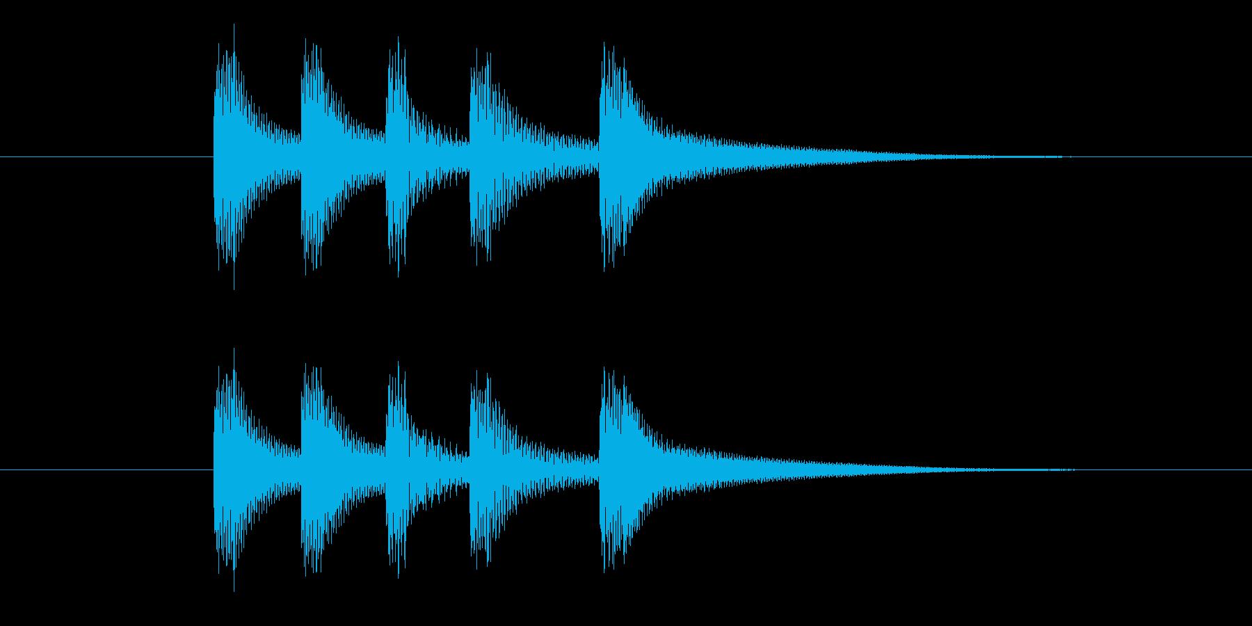 コロンコロンの再生済みの波形