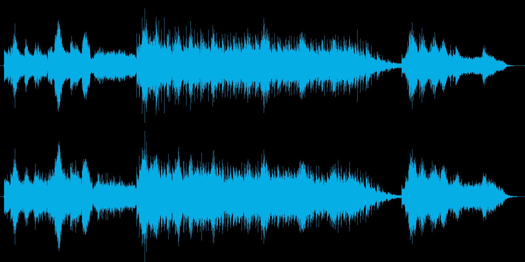 効果音をたくさん盛り込んだ雅楽風ホラーの再生済みの波形