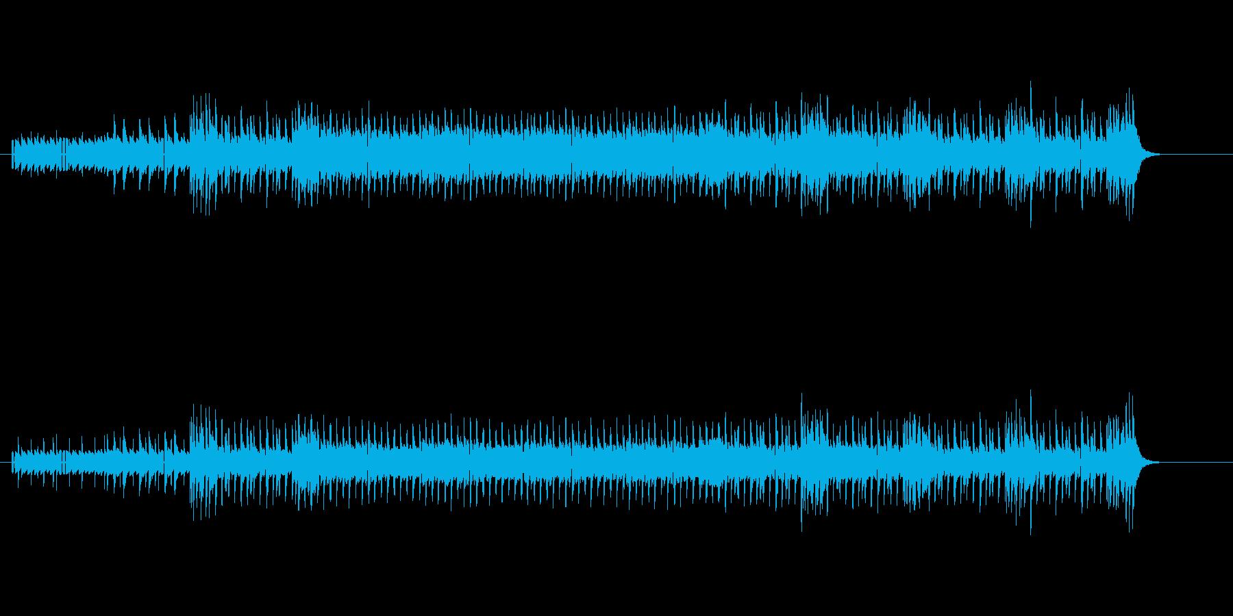 ドラマ主題歌風の曲の再生済みの波形