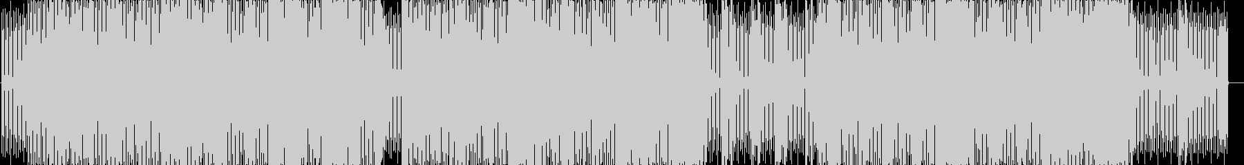 ソリッドでクールなエレキテクノの未再生の波形