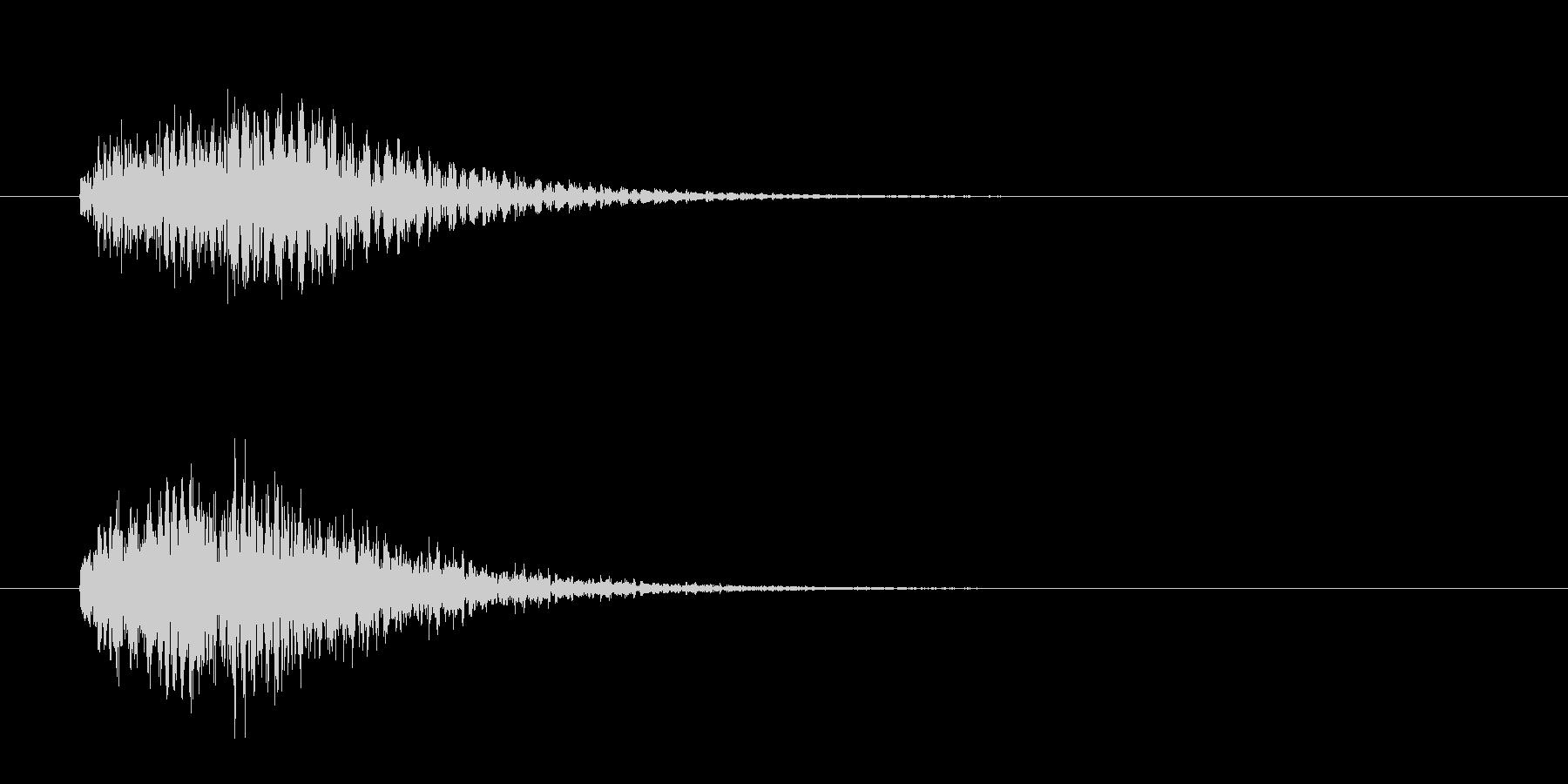 操作系_決定音の未再生の波形