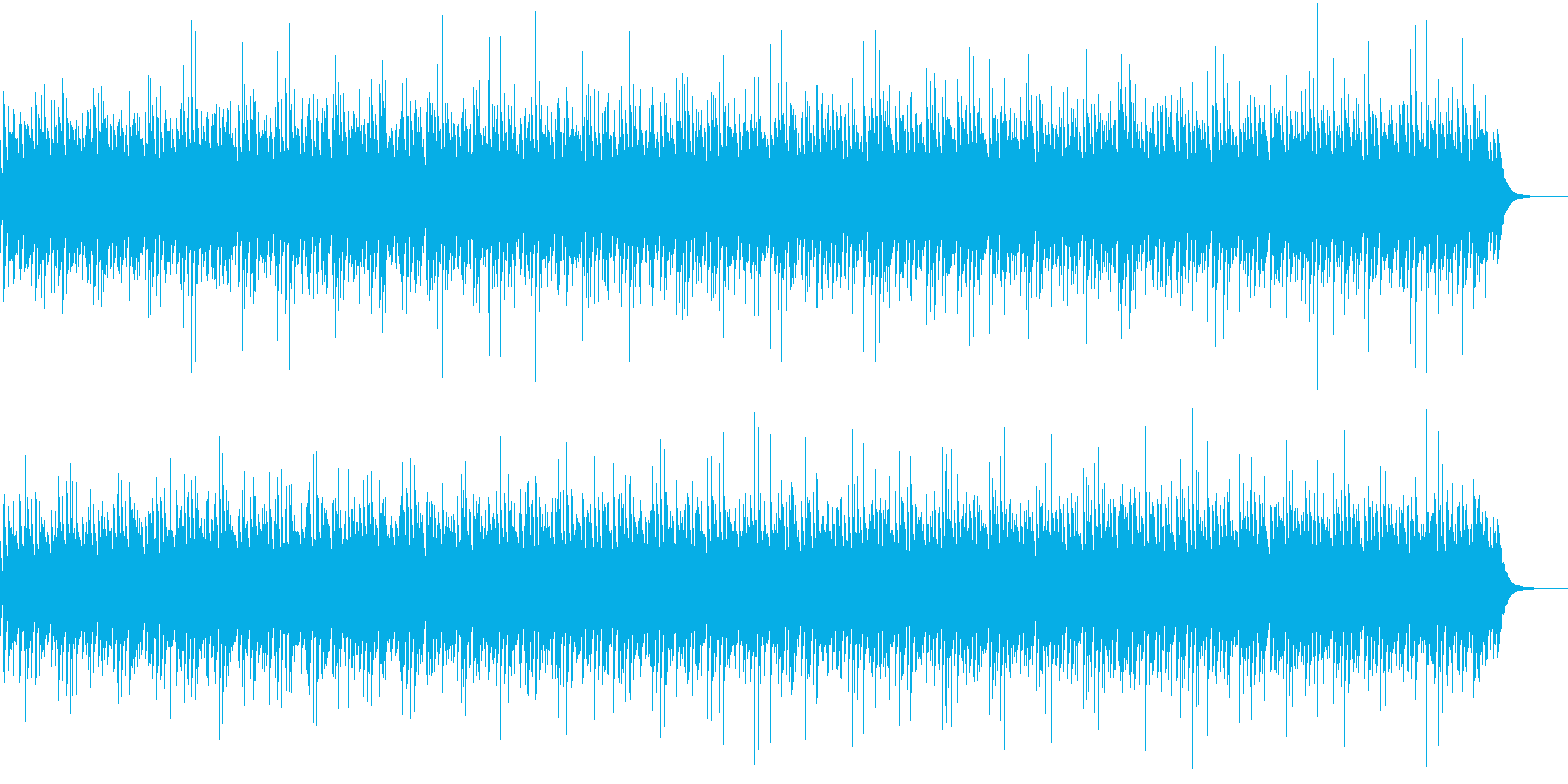 張り詰めた場面に使える曲になればとの再生済みの波形