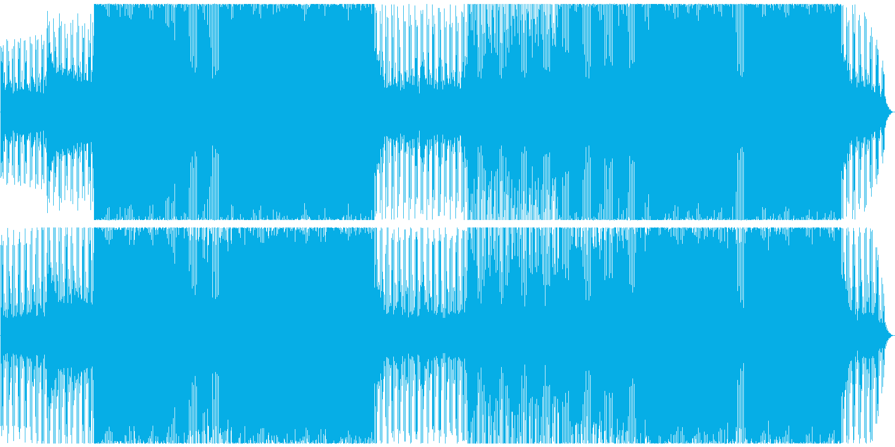 クラブ/ハードハウス/ハードテクノの再生済みの波形