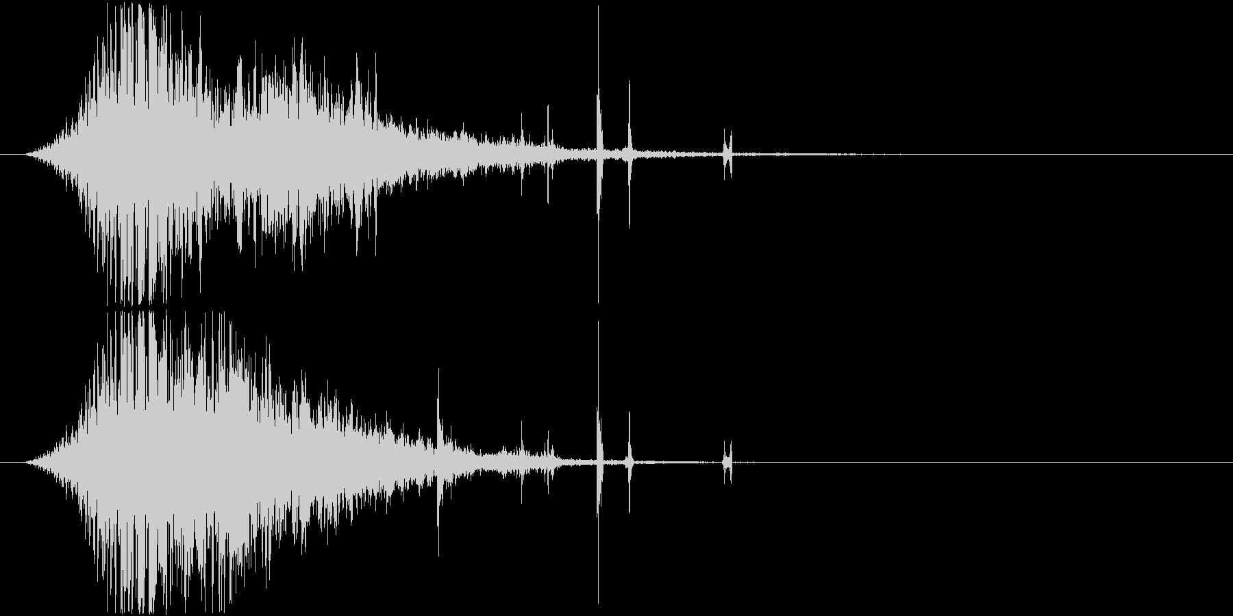 氷魔法の音1(凍てついた風で凍らせる)の未再生の波形