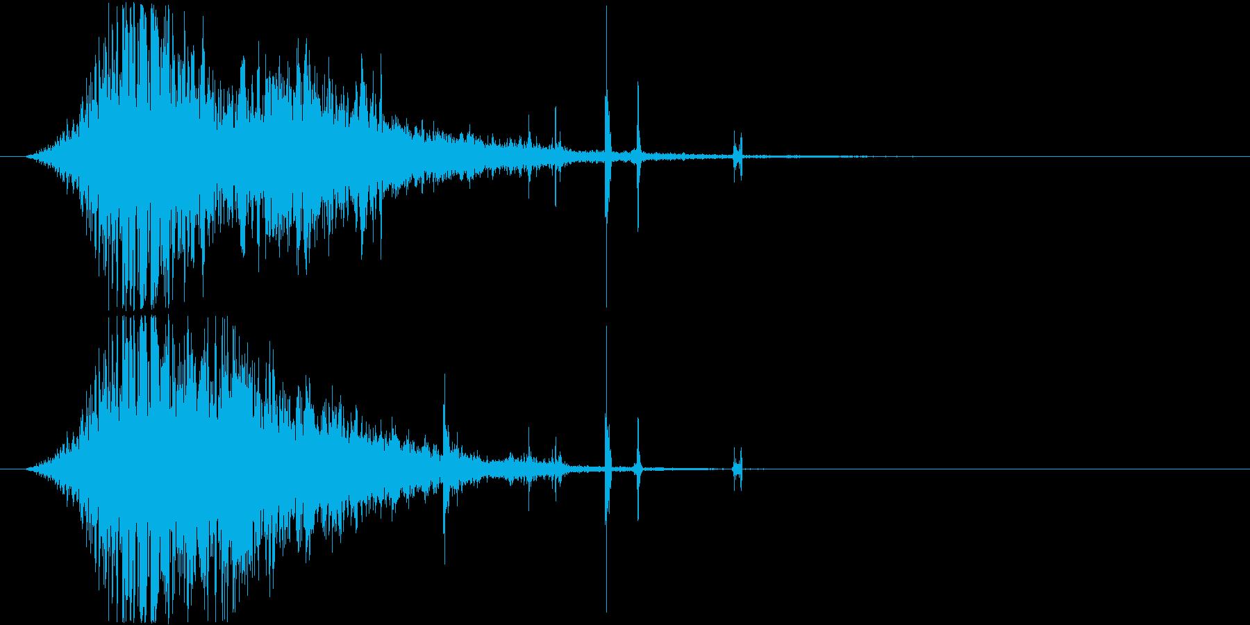 氷魔法の音1(凍てついた風で凍らせる)の再生済みの波形