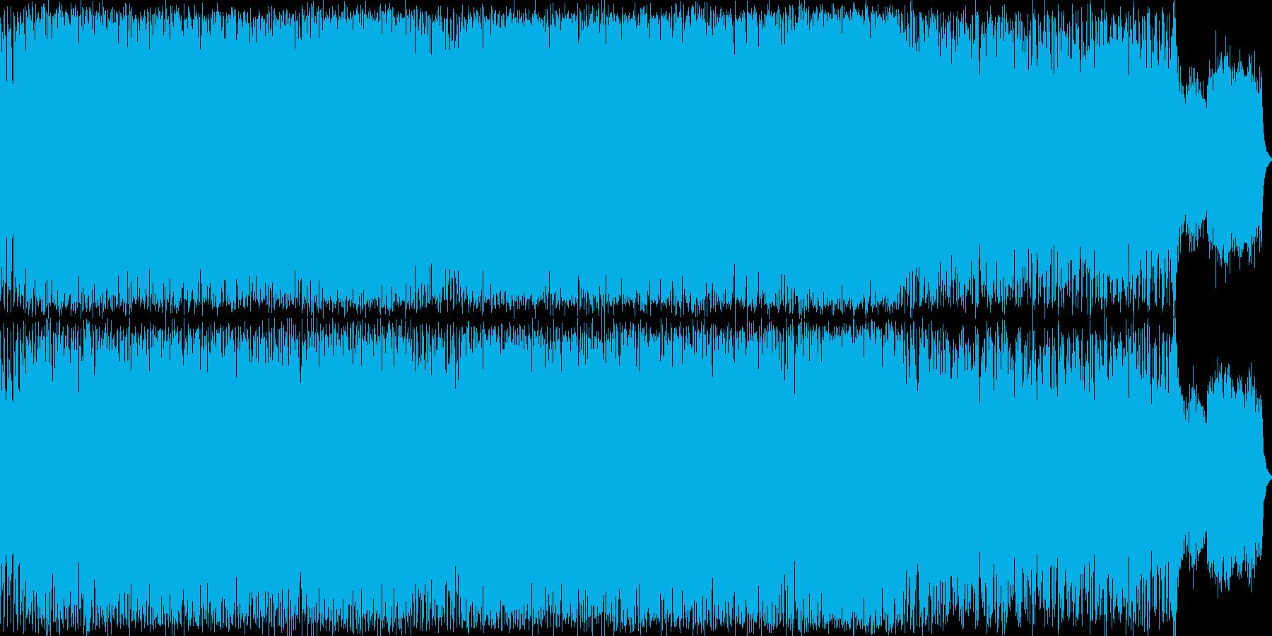ラテンテイストのピアノインストの再生済みの波形