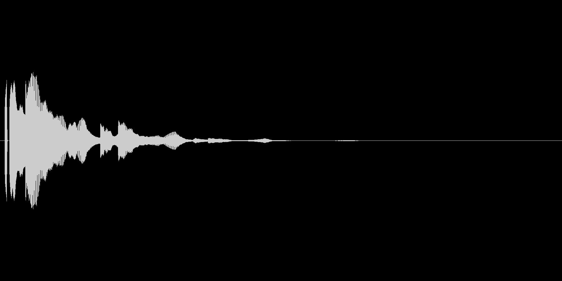 決定音。シンセ。「テテン」の未再生の波形