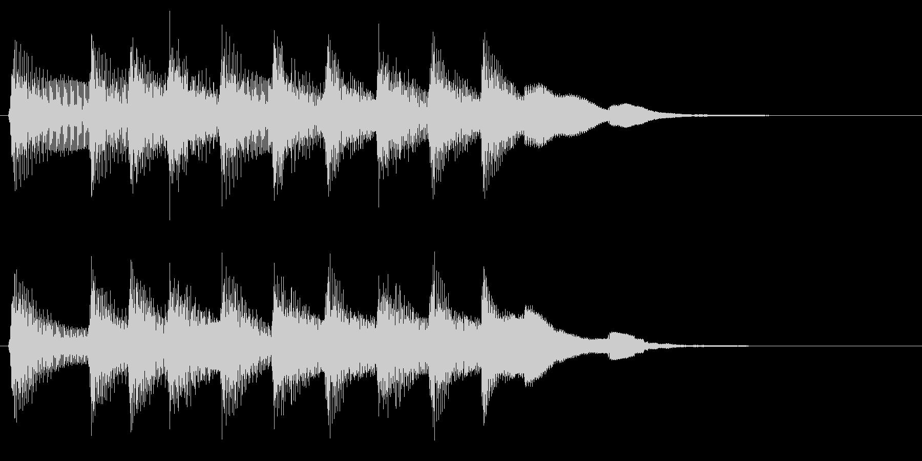 レトロな音のファンファーレ ピコピコ音の未再生の波形