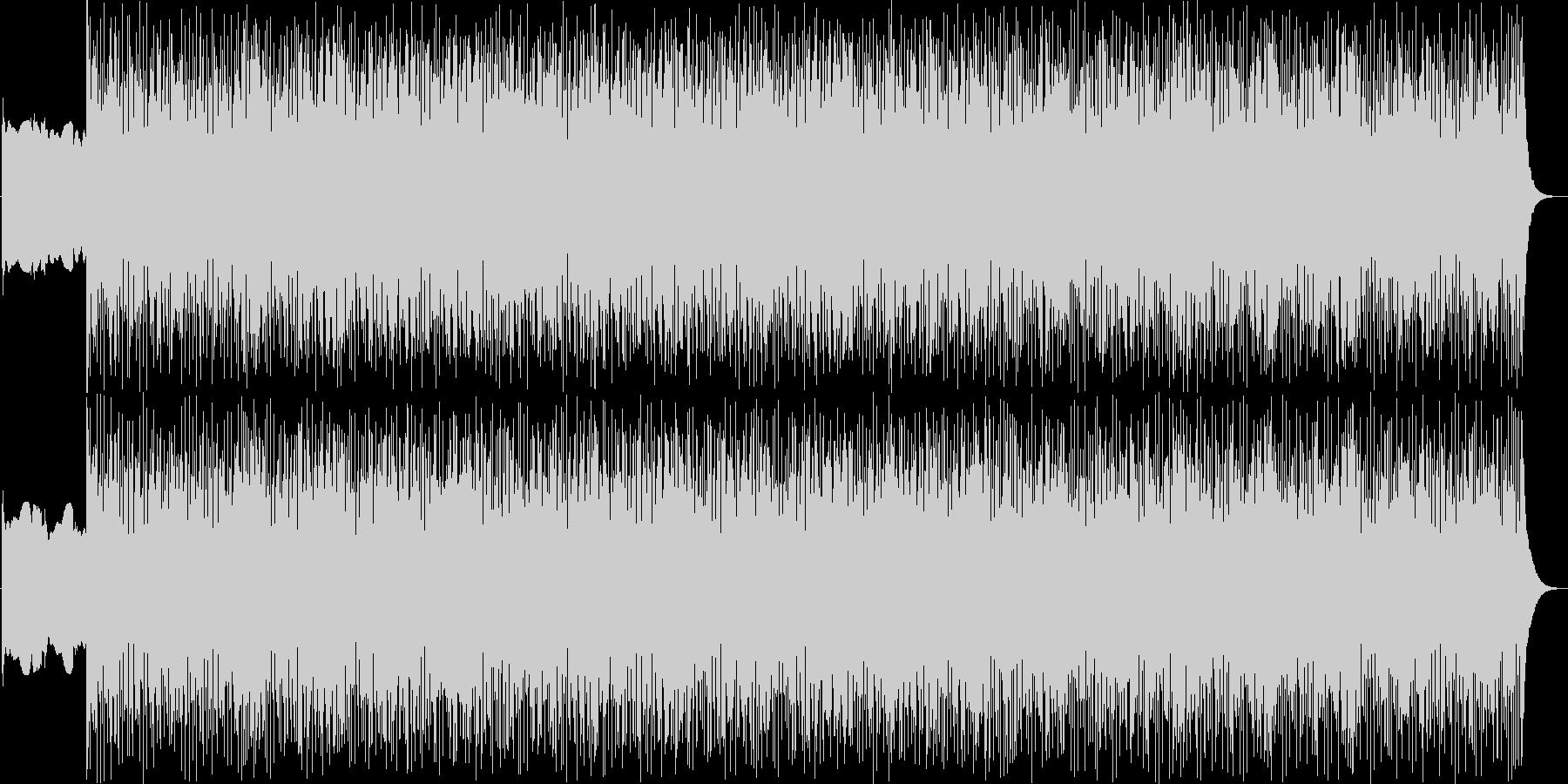 緊張感のあるピアノンベースの未再生の波形