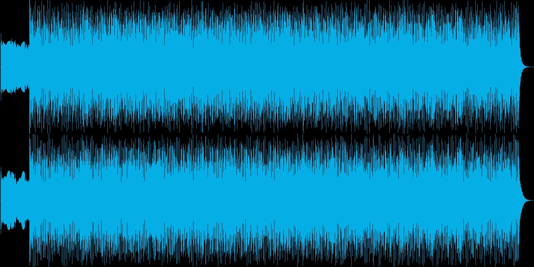 緊張感のあるピアノンベースの再生済みの波形