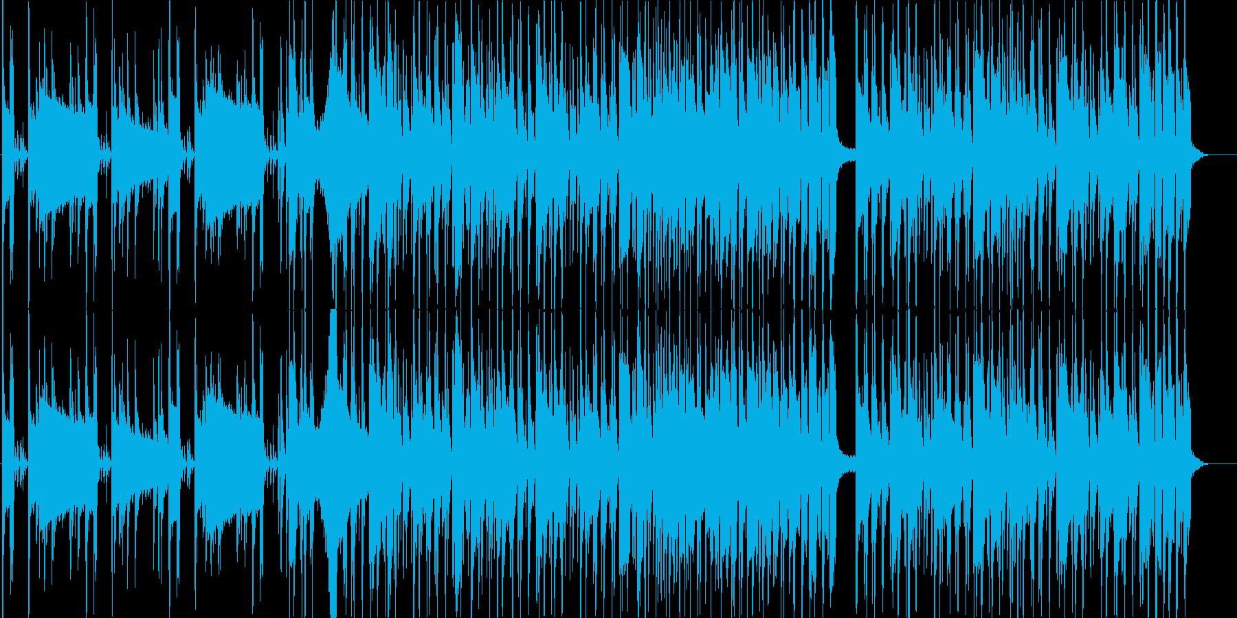 BassとDrの熱いセッションの再生済みの波形