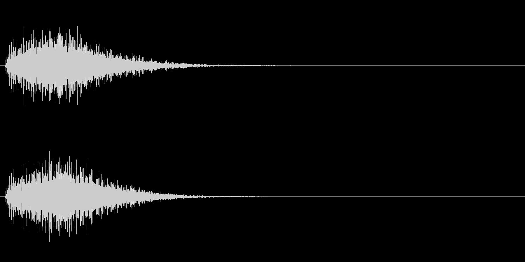 魔法 4の未再生の波形