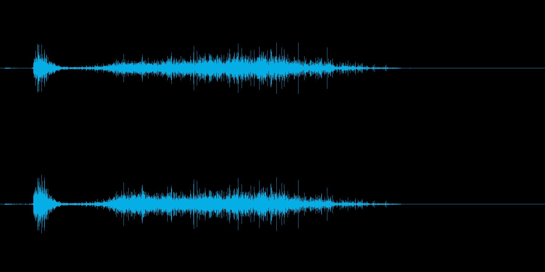 マッチの燃える音の再生済みの波形