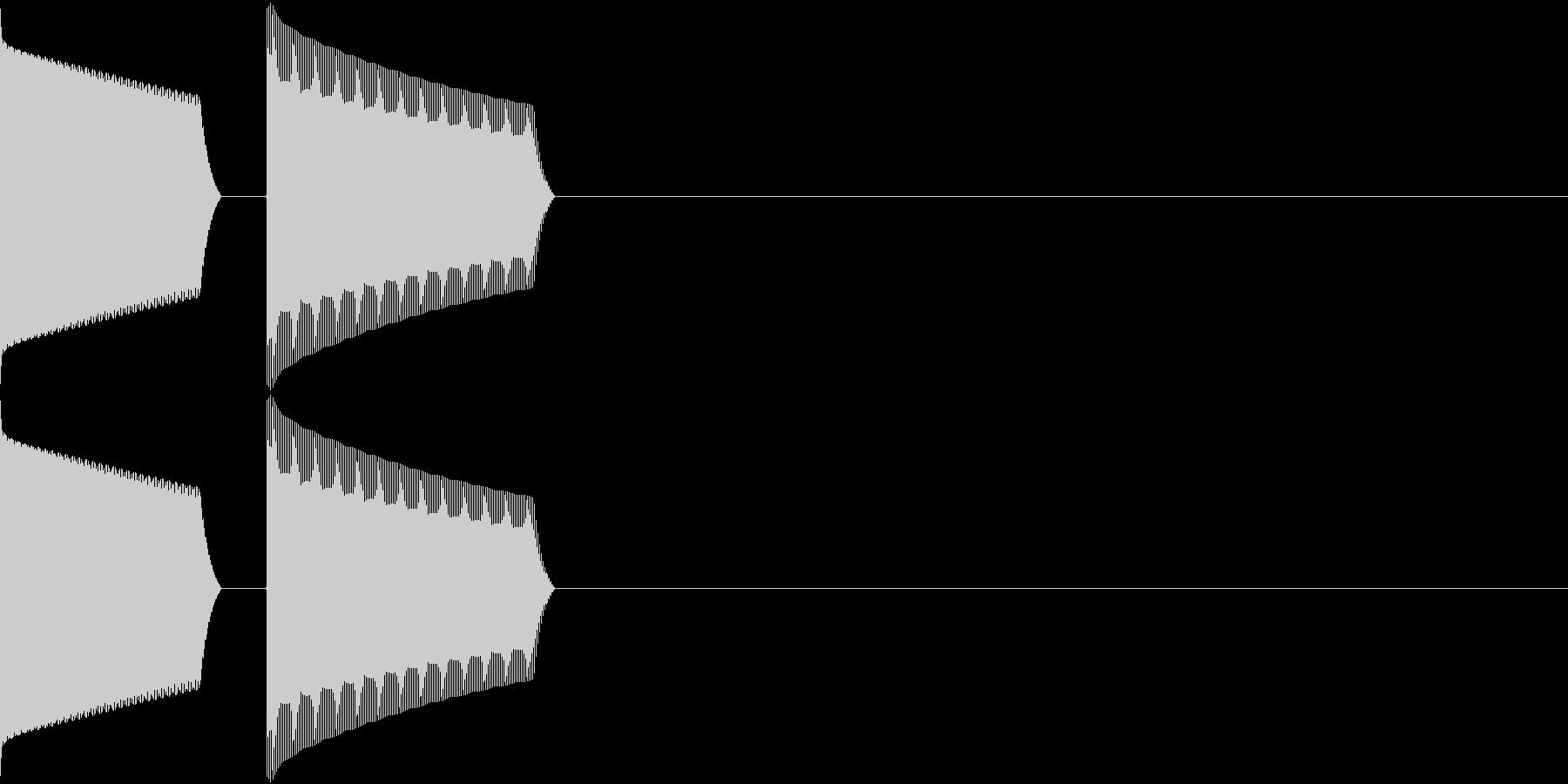 ATM 操作音 3の未再生の波形