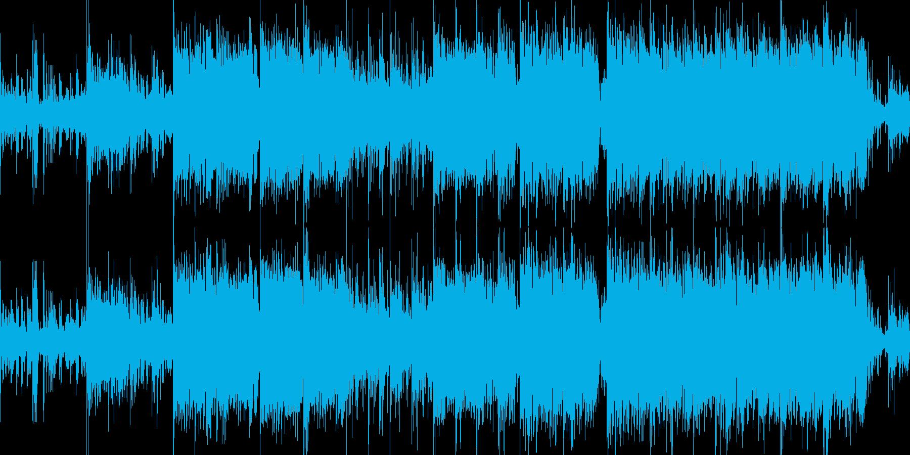 荘厳なグリッチエレクトロニカの再生済みの波形