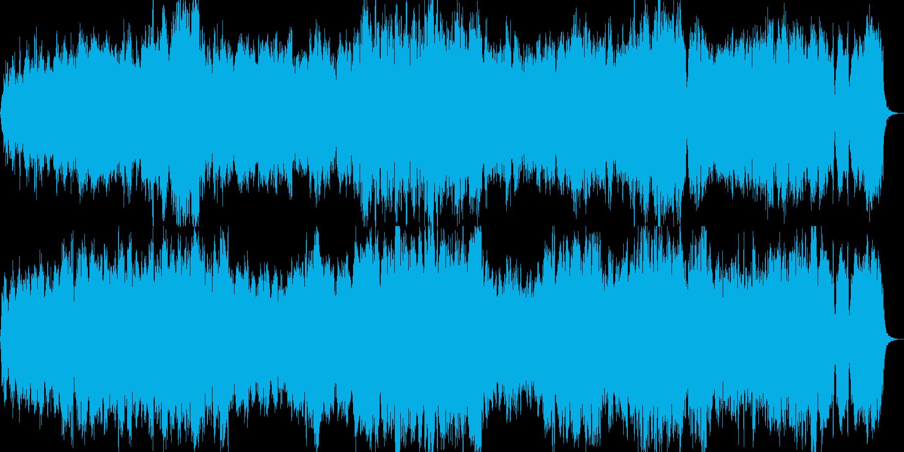 おだやかなストリングス(生)の再生済みの波形