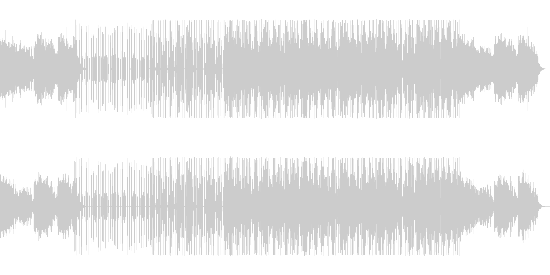 ダークで独創的なイージーリスニングの未再生の波形