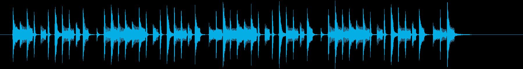パーカッションの南国風ボサノバの再生済みの波形