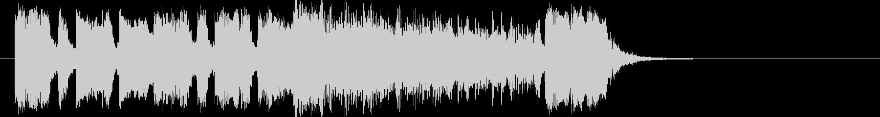 インパクトのあるファンクジングルの未再生の波形