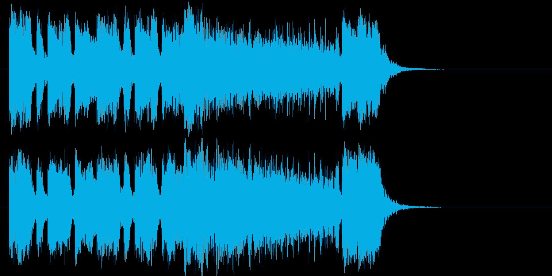 インパクトのあるファンクジングルの再生済みの波形