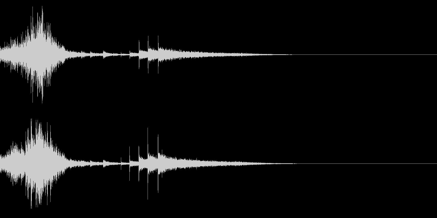 ダララララチンチンチン (ドラムロール)の未再生の波形