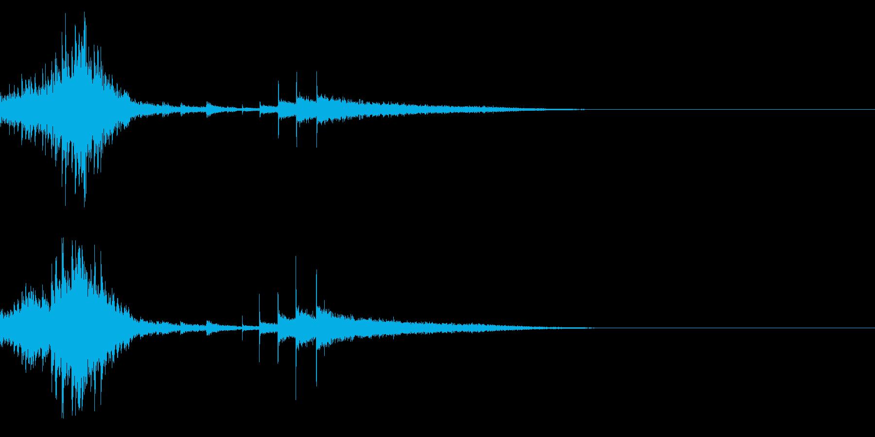 ダララララチンチンチン (ドラムロール)の再生済みの波形