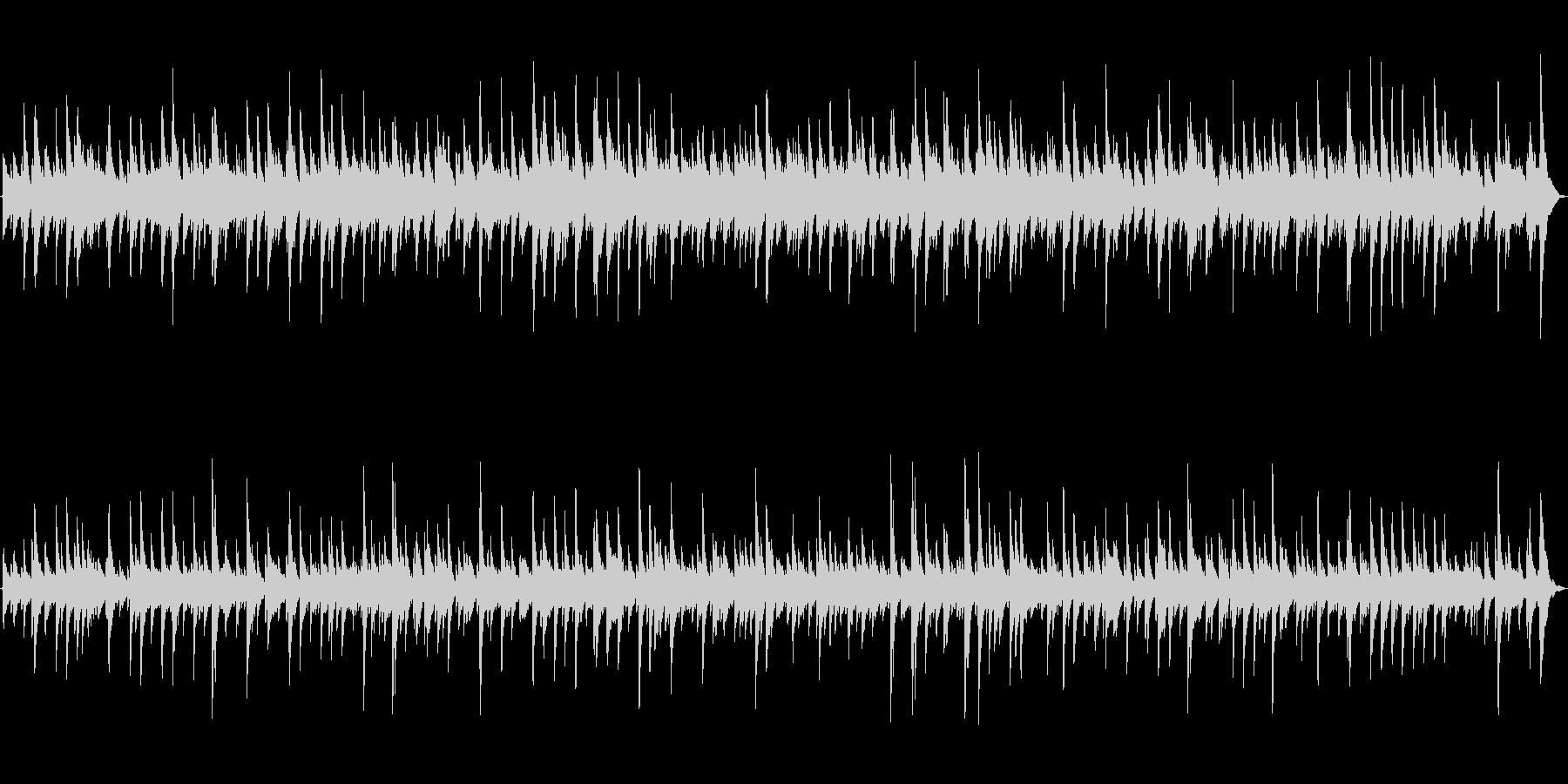 映画のワンシーンのようなピアノソロBGMの未再生の波形