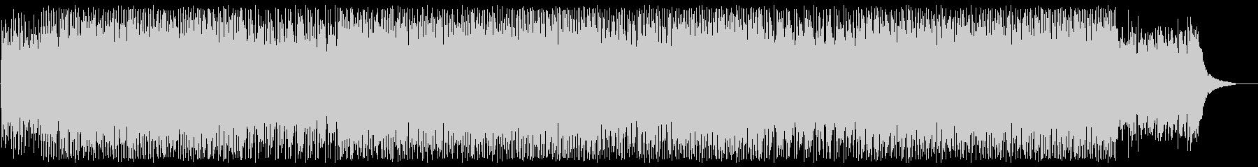 bpmが早くピアノ混じりのシンセサイザーの未再生の波形