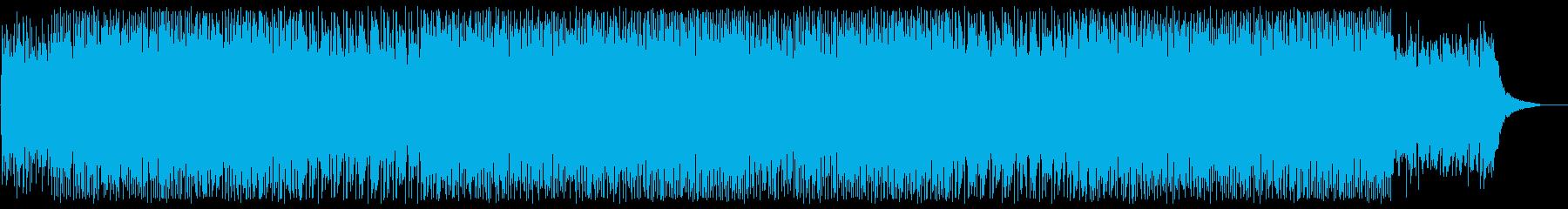 bpmが早くピアノ混じりのシンセサイザーの再生済みの波形