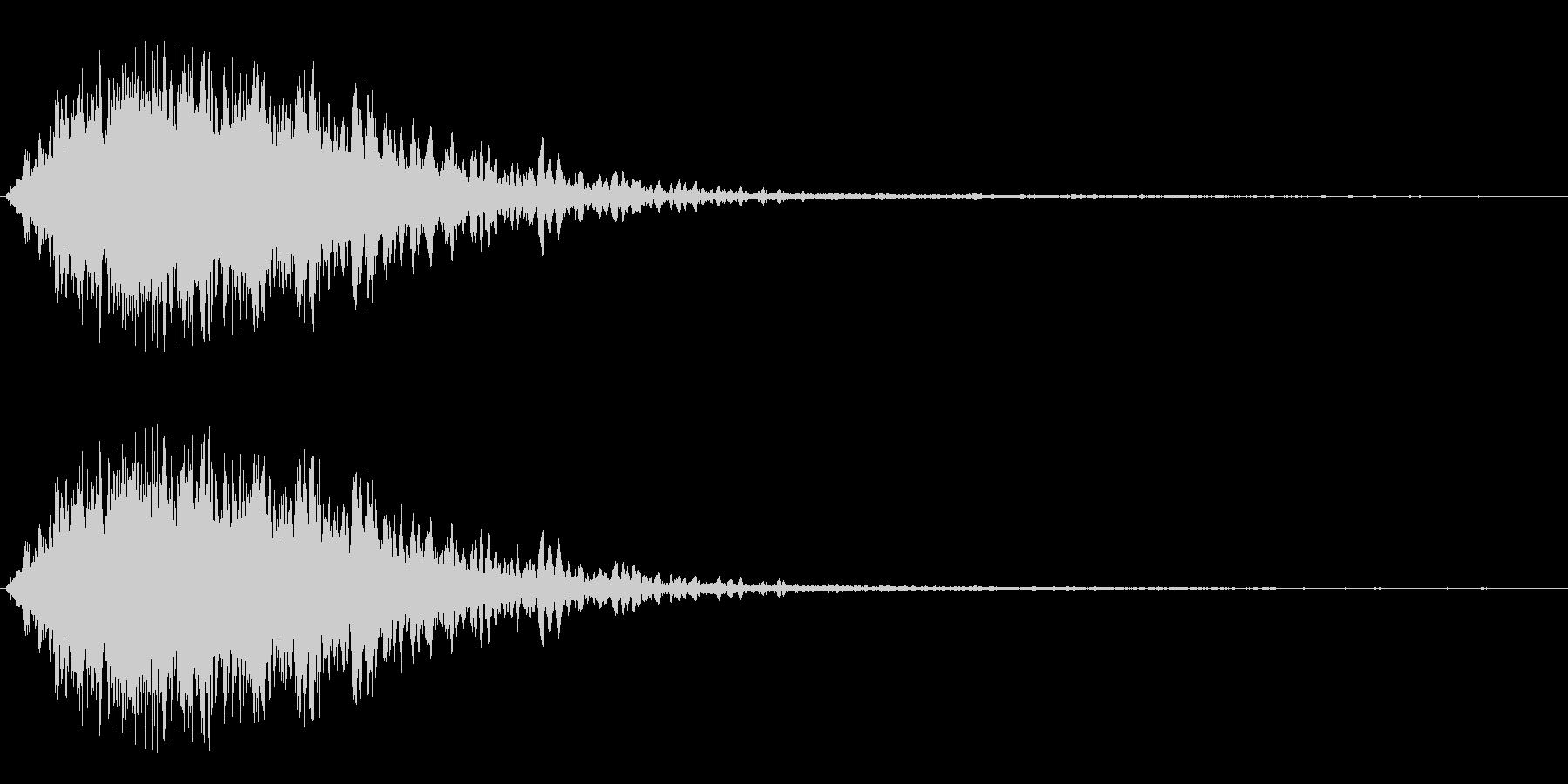 レーザービームの発射音の未再生の波形