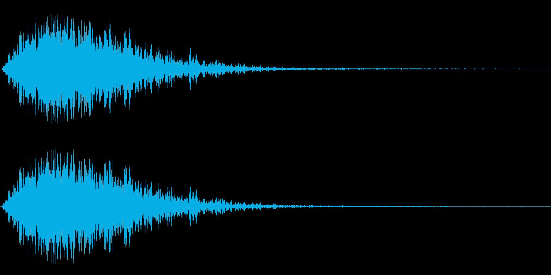 レーザービームの発射音の再生済みの波形