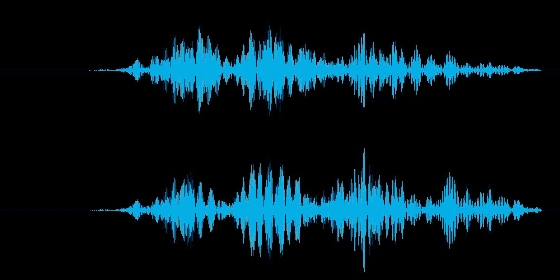 鞭ムチや攻撃、ヌンチャク等の風切り音!2の再生済みの波形