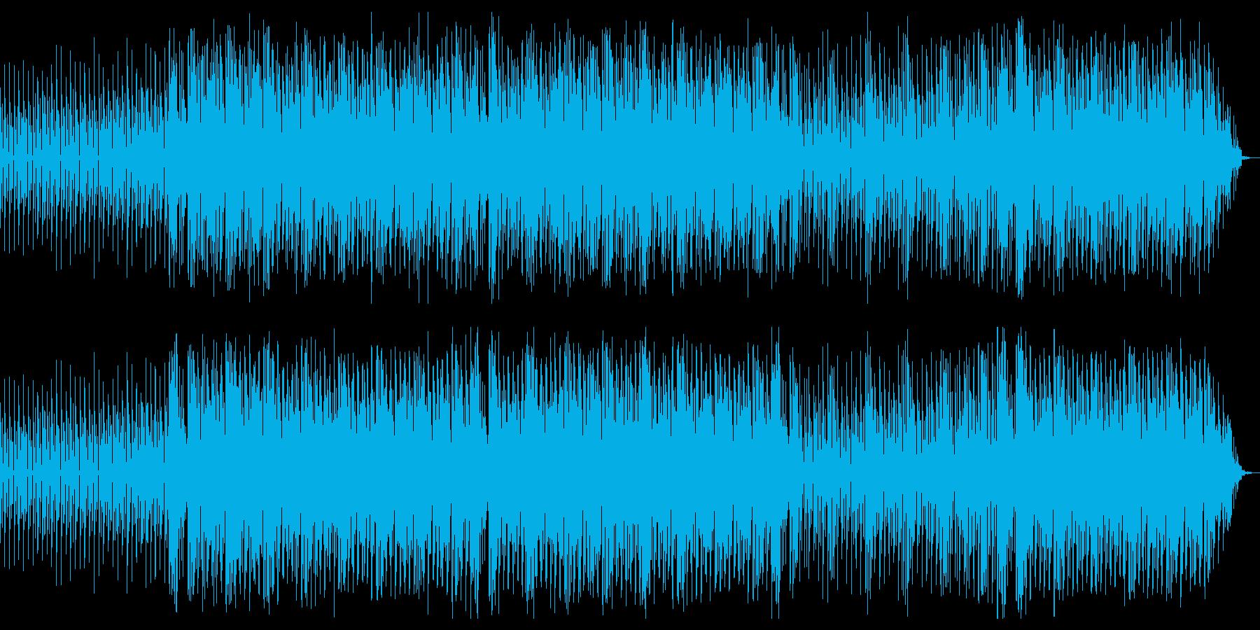 ダンサブルなほのぼの系ビートですの再生済みの波形