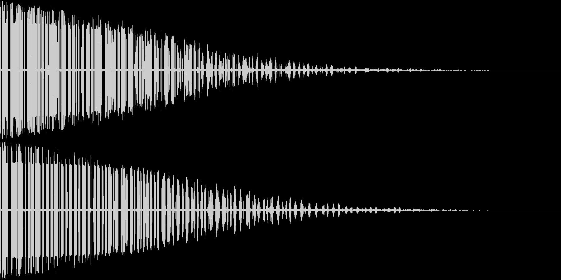 バーン(爆発音)の未再生の波形