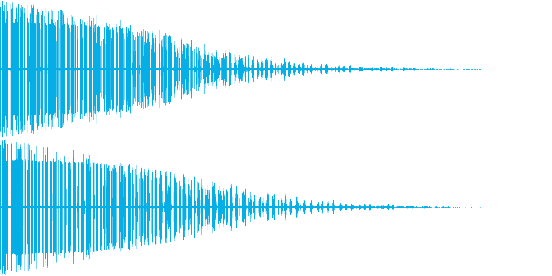 バーン(爆発音)の再生済みの波形