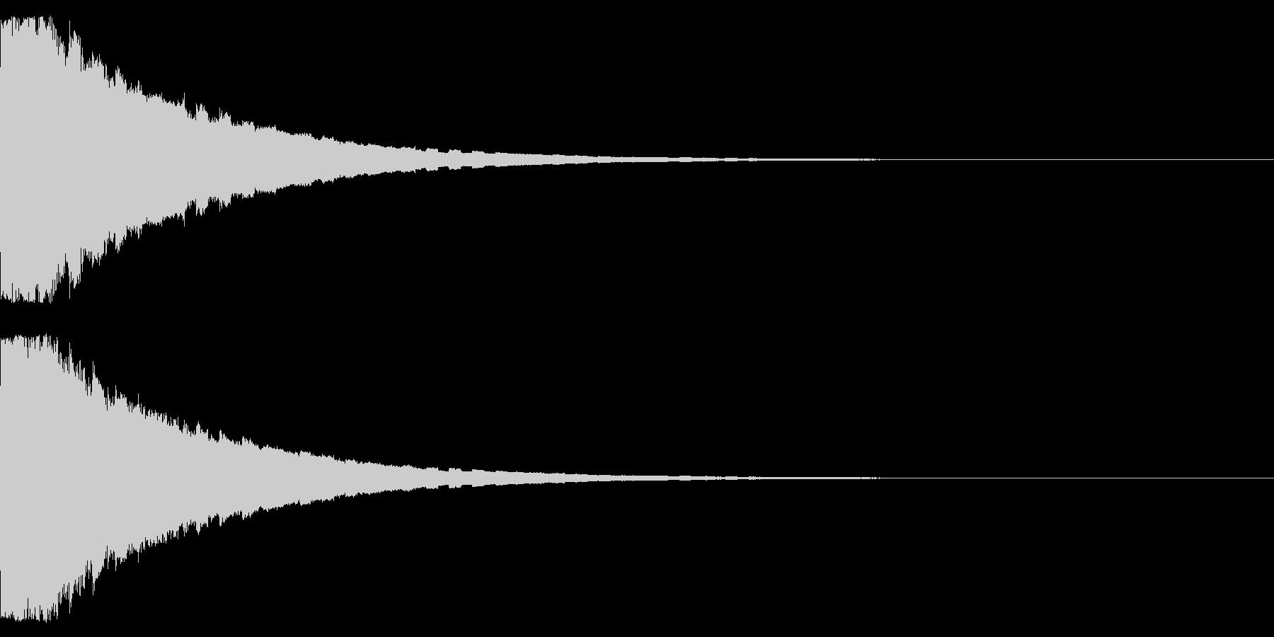 ピコピコピコ… 上昇音 その2の未再生の波形