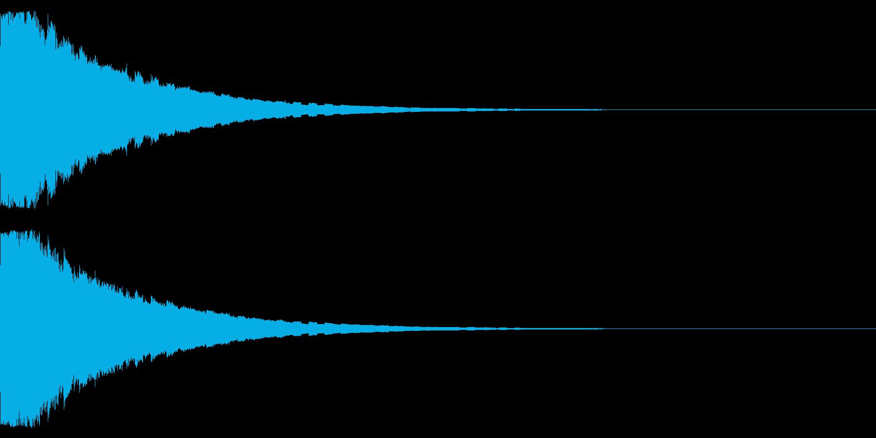 ピコピコピコ… 上昇音 その2の再生済みの波形