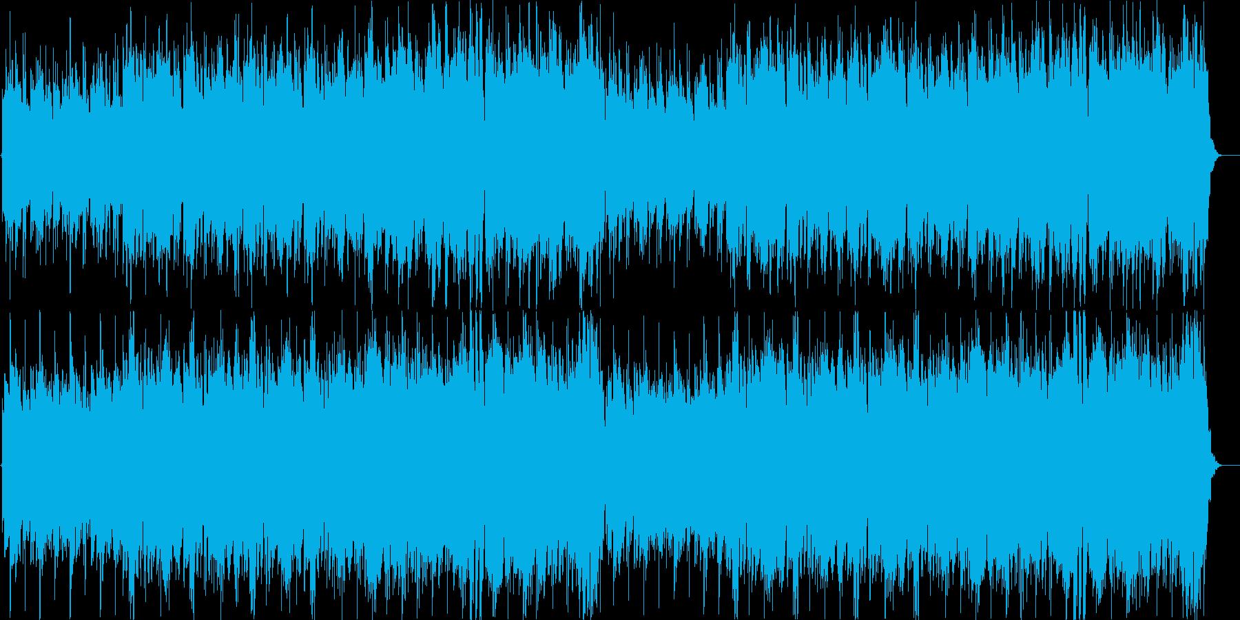 素朴な感じの穏やかな曲の再生済みの波形