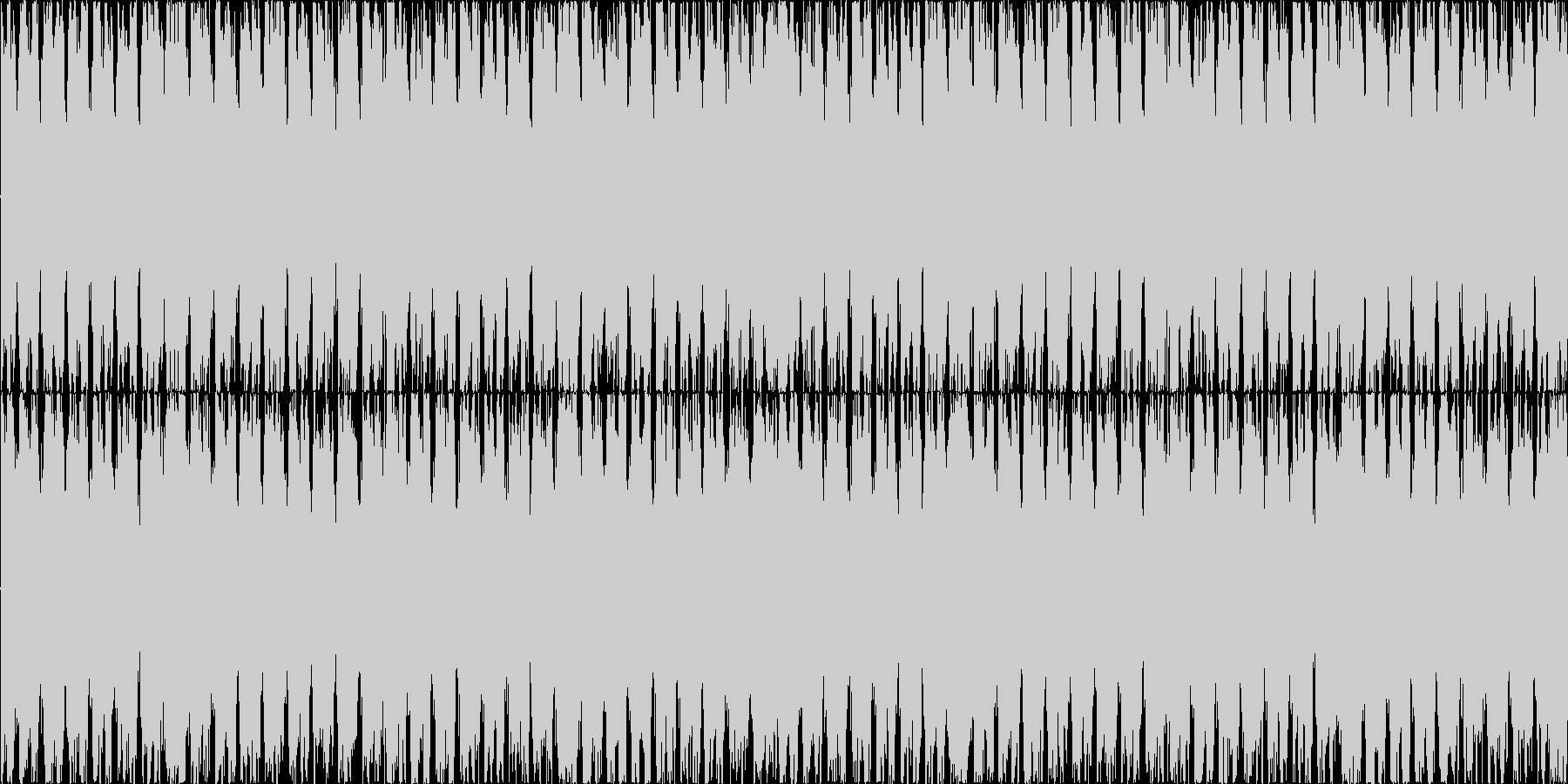 裏打ちのリズムのコミカルな曲ですの未再生の波形