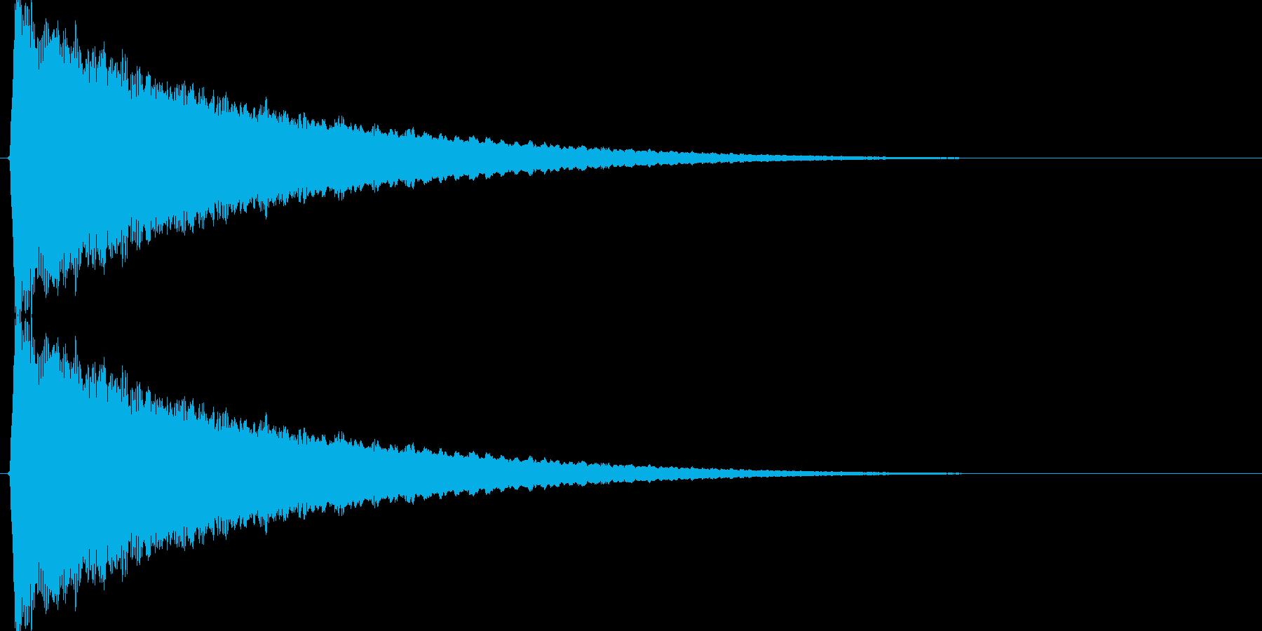 キュイィン↑(上昇、メーター、温度計)の再生済みの波形