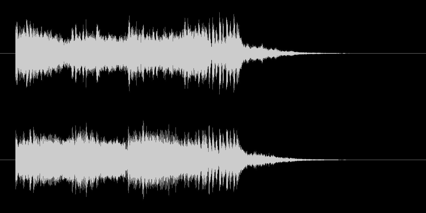 知的な印象のテクノポップスの未再生の波形