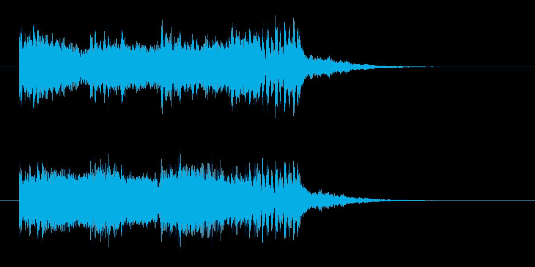 知的な印象のテクノポップスの再生済みの波形