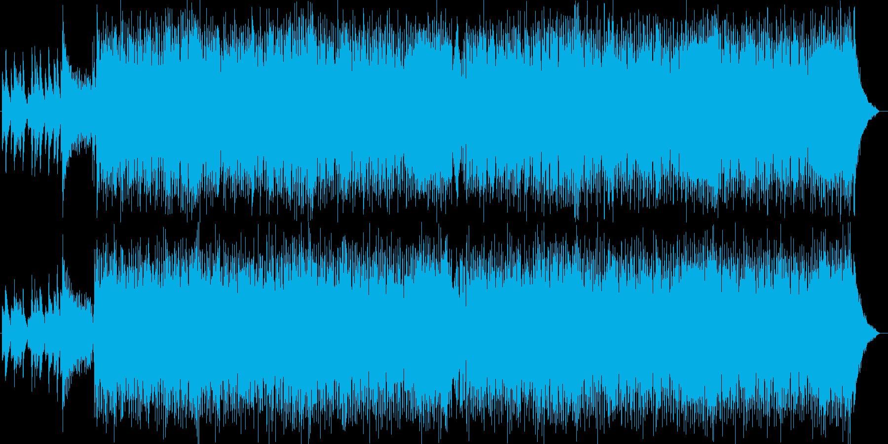 ドラマの展開のようなピアノやシンセの曲の再生済みの波形