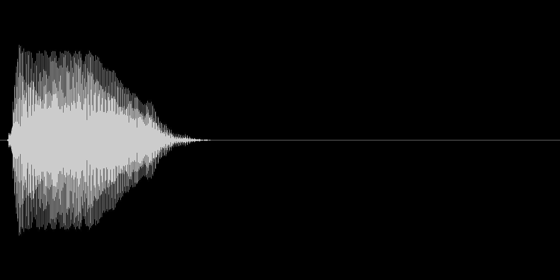 Dの未再生の波形